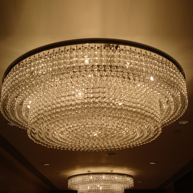 Flush Mount Chandelier With Gl